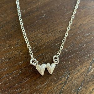 Lisa Leonard Sterling Silver Hearts Necklace